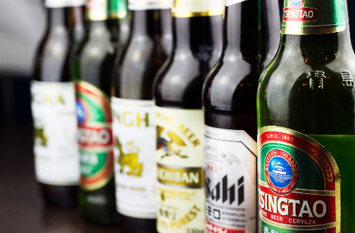 Asian beers available with your takeaway