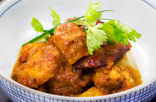 Vegetable rendang delivered to Newington Green