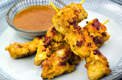 Chicken satay delivered to Highbury